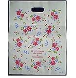 KANARIA ラッピング バッグ 袋 50枚入 / 包装 プレゼント 贈り物 品物 ギフトイベント / 22×32㎝ / 花 柄 (バラ小)