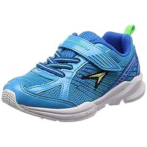 [シュンソク] 運動靴 通学履き 瞬足 幅広 衝撃吸収 高反発 15~23cm キッズ 男の子 SJC 5110 ブルー 17.5 cm 3E