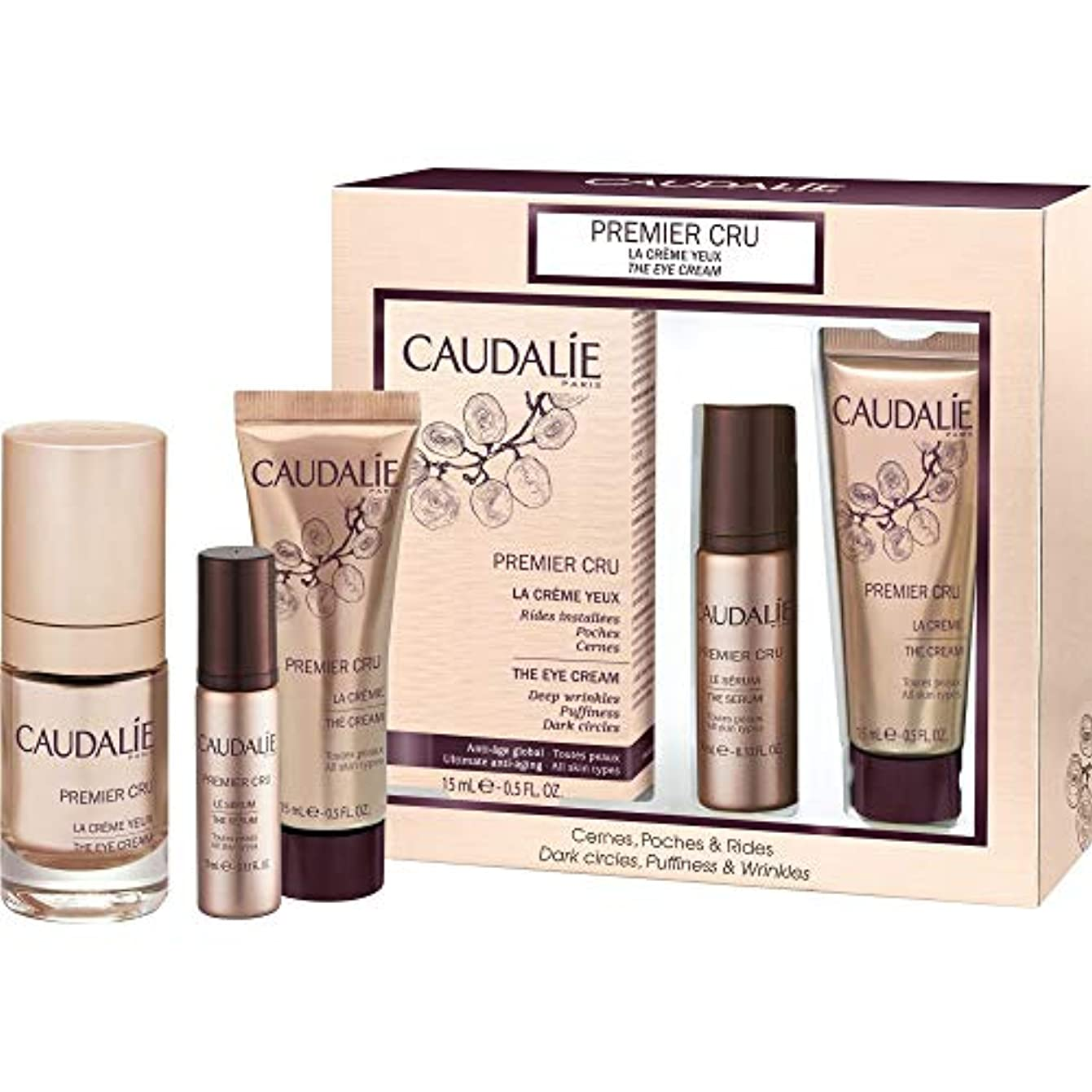 のど封筒罰[Caudalie] コーダリープレミアは、アイクリーム15ミリリットルのギフトセットをCru - Caudalie Premier Cru The Eye Cream 15ml Gift Set [並行輸入品]