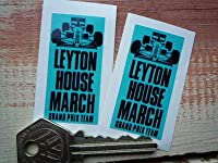 Leyton House March Grand Prix Team Stickers ステッカー シール デカール 25mm x 50mm 2枚セット [並行輸入品]