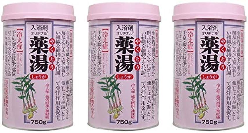 蜜故意の無許可【まとめ買い】オリヂナル薬湯 しょうが 750g【×3個】