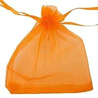 Smiti オーガンジー 巾着袋 ジュエリー 小物 収納袋 プレゼント ラッピング 11X16cm オレンジ