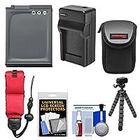 Essentialsバンドルfor Nikon Coolpix aw110, aw120, aw130デジタルカメラwith en-el12バッテリー+充電器+ケース+ Flex三脚+フローティングストラップ+キット