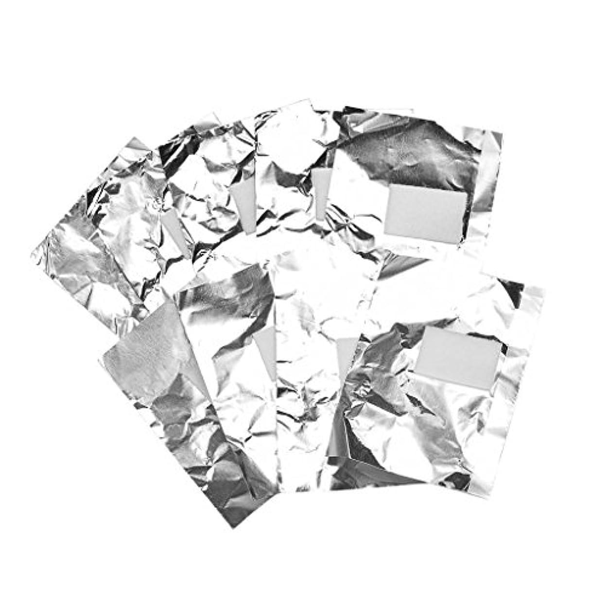 影のある勇気キルス約100枚 ジェル除却 ネイルアート 錫箔紙 クリーナーツール パッド 爪装飾除き 包み紙