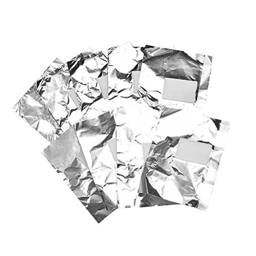 透明に地上の金属Baosity 約100枚 ジェル除却 ネイルアート 錫箔紙 クリーナーツール パッド 爪装飾除き 包み紙