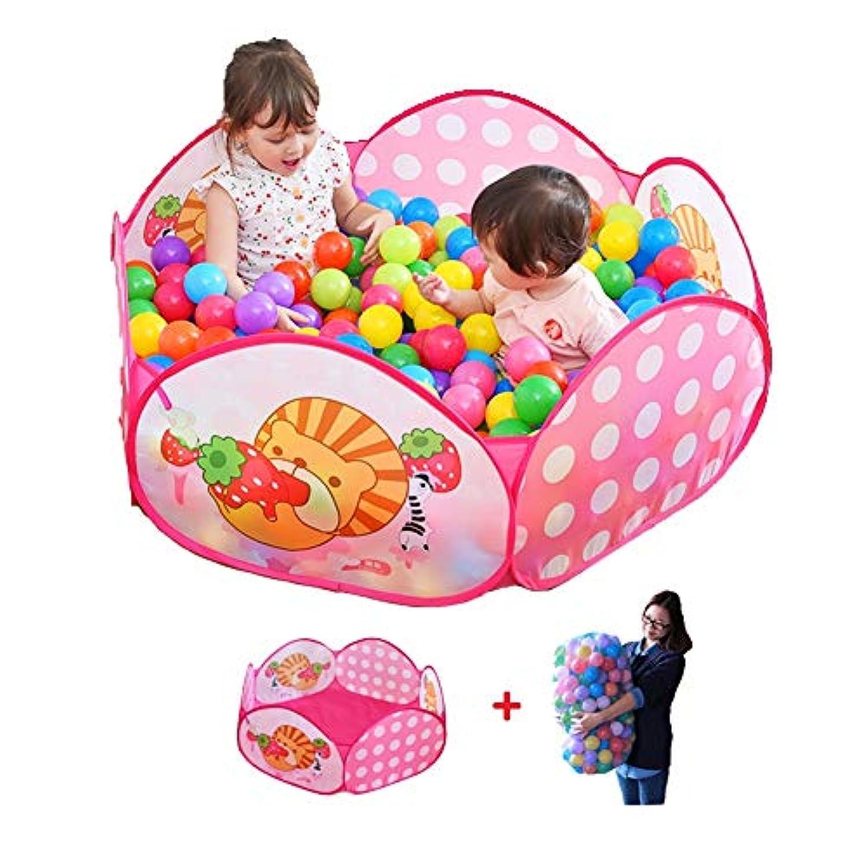 子供の遊び場ボールプールとボール、ポータブルプレイグラウンド幼児のためのプレーペン、軽量メッシュチャイルドプレイペン