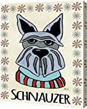 Schnauzer by Shanni Welsh–ギャラリーWrapped Gicleeキャンバスアートプリント–Ready To Hang 20″ x 24″ GW-POD-48-WC1318-20×24