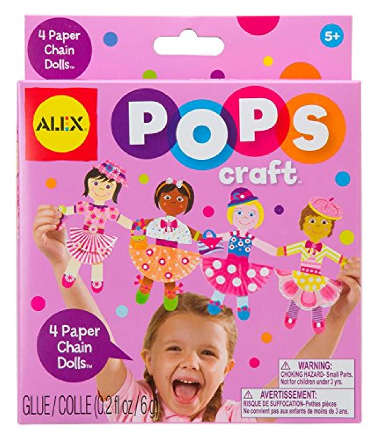 ALEX Toys POPS Craft 4 Paper Chain Dolls [並行輸入品]