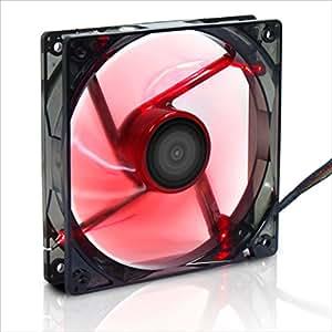 サイズ AKA-KAZ 赤風 LED搭載12cmファン AKA-KAZE