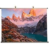 Rise、Patagonia – キャンバス壁スクロールポスター24 x 16インチ