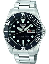 セイコー Seiko 5 Black Dial Stainless Steel Automatic Mens Watch SNZF17 [並行輸入品]