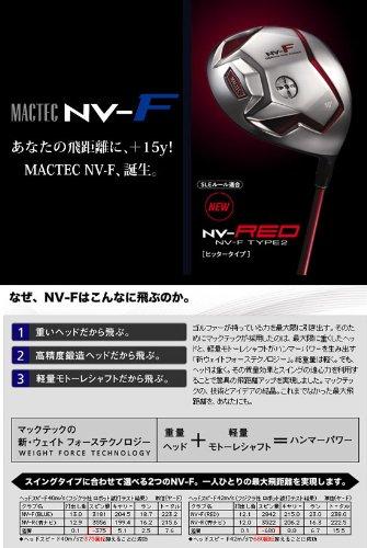 マグレガー MACTEC マックテック NV-F TYPE-2NV-RED ドライバー Motore NV-REDドライバー専用MotoreMF-4346 10度 S 45インチ