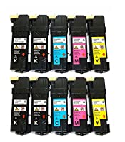4-パック交換(ブラック331–0719シアン331–0716マゼンタ331–0717イエロー331–0718)トナーカートリッジfor Dell 215521502150CN 2155CN 2155CDNプリンタ。