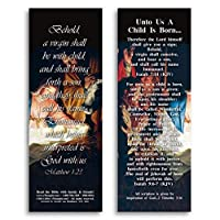 eThought Bible Verse Cards by - Matthew 1:23 - Unto Us a Child Is Born - Pack of 25 Bookmark Size Cards (BB-B016-25) [並行輸入品]