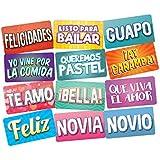 スペイン語で写真ブース小道具イベントにぴったりの写真ブース小道具、すべてのスペイン語用語Can Be Used For Quinceanerasや結婚式誕生日パーティand More 。