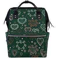 ママバッグ マザーズバッグ リュックサック ハンドバッグ 旅行用 さまざなハート ファション