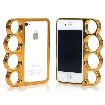 iPhone SE iPhone 5S iPhone 5 ハードタイプ 背面 ナックル ポリカーボネート ケース カバー ゴールド