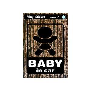 ゼネラルステッカー マジステ Baby in car-木目 ベビーインカーステッカー SK-136