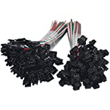 HKBAYI 50Pair/50sets 3 pin JST SM Male Female Plug LED Connector Cable for WS2812B WS2812 WS2811 LED Strip Lamp with 15cm Long Wire