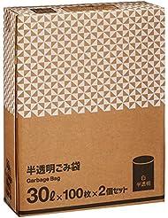 【Amazon.co.jp限定】 Kuras 半透明ごみ袋 30L 100枚 2個セット