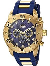 Invicta Men 's ' Pro Diver ' QuartzステンレススチールとポリウレタンCasual Watch, Color : Blue (Model : 20280)