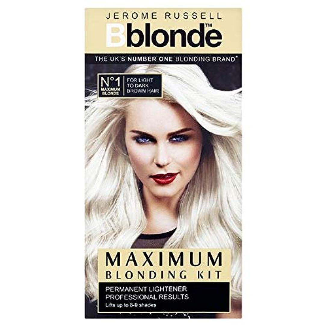 ホールド乗り出す医学[Jerome Russell] ジェロームラッセルB金髪最大Blondingキット - Jerome Russell B Blonde Maximum Blonding Kit [並行輸入品]