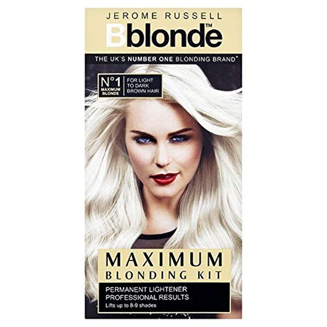 マニフェスト区閲覧する[Jerome Russell] ジェロームラッセルB金髪最大Blondingキット - Jerome Russell B Blonde Maximum Blonding Kit [並行輸入品]
