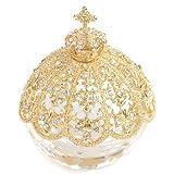 < ブリリアントクラウン(ゴールド) > ピィアース 『HOT PEPPER』に掲載されました! トゥインクルボックス キラキラガラスの小物入れ 置物 宝石箱 女性が喜ぶ可愛いプレゼント♪ 誕生日プレゼント 自分へのご褒美 【ピィアース直営ショップ】 X'mas