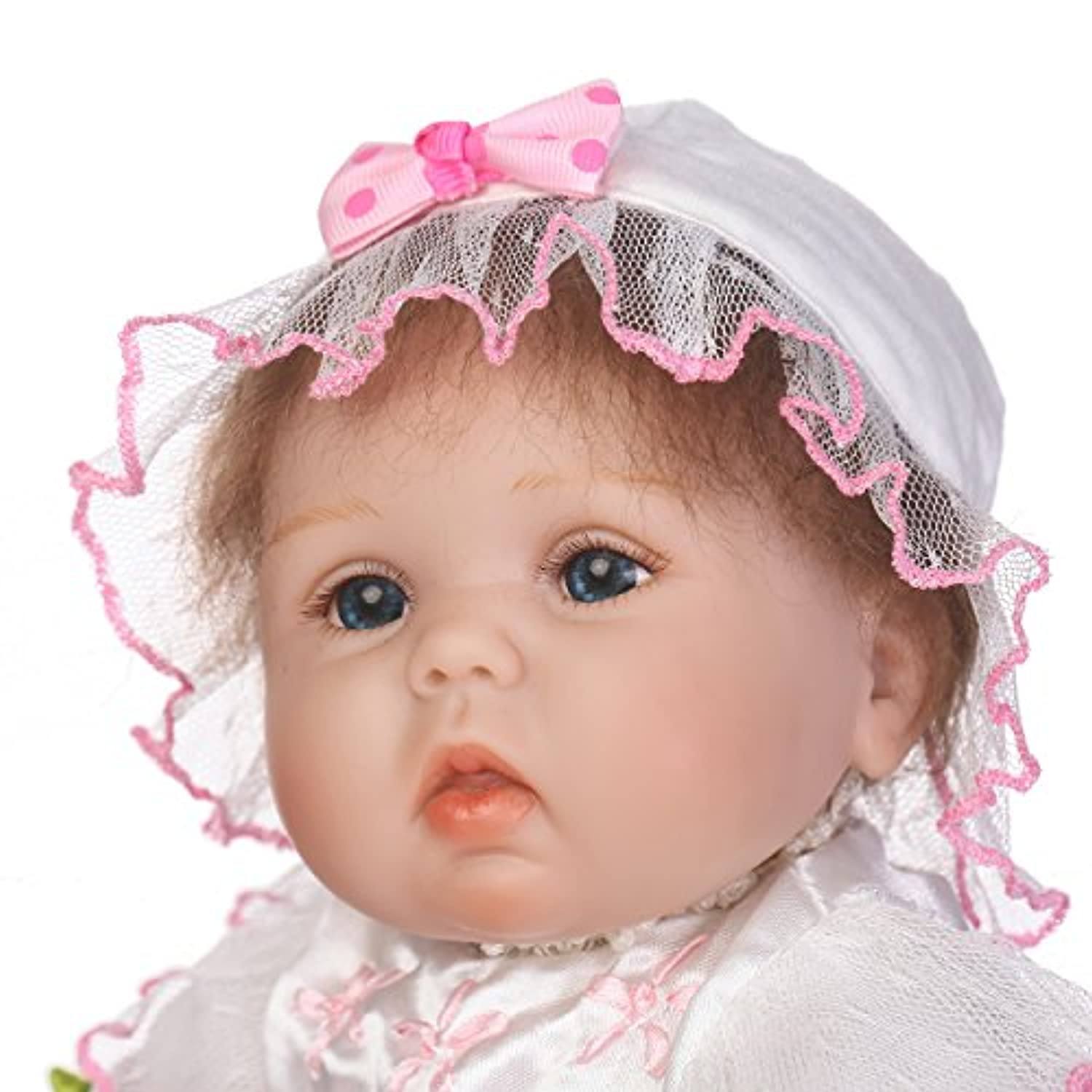 SanyDoll Rebornベビー人形ソフトSilicone 18インチ45 cm磁気Lovely Lifelike Cute Lovely Baby b0763lhyhr