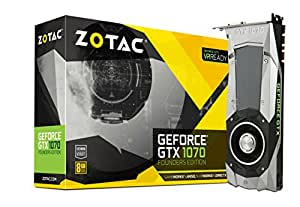 ZOTAC GeForce GTX1070 Founder edition グラフィックスボード VD6054 ZTGTX1070-8GD5XFE001