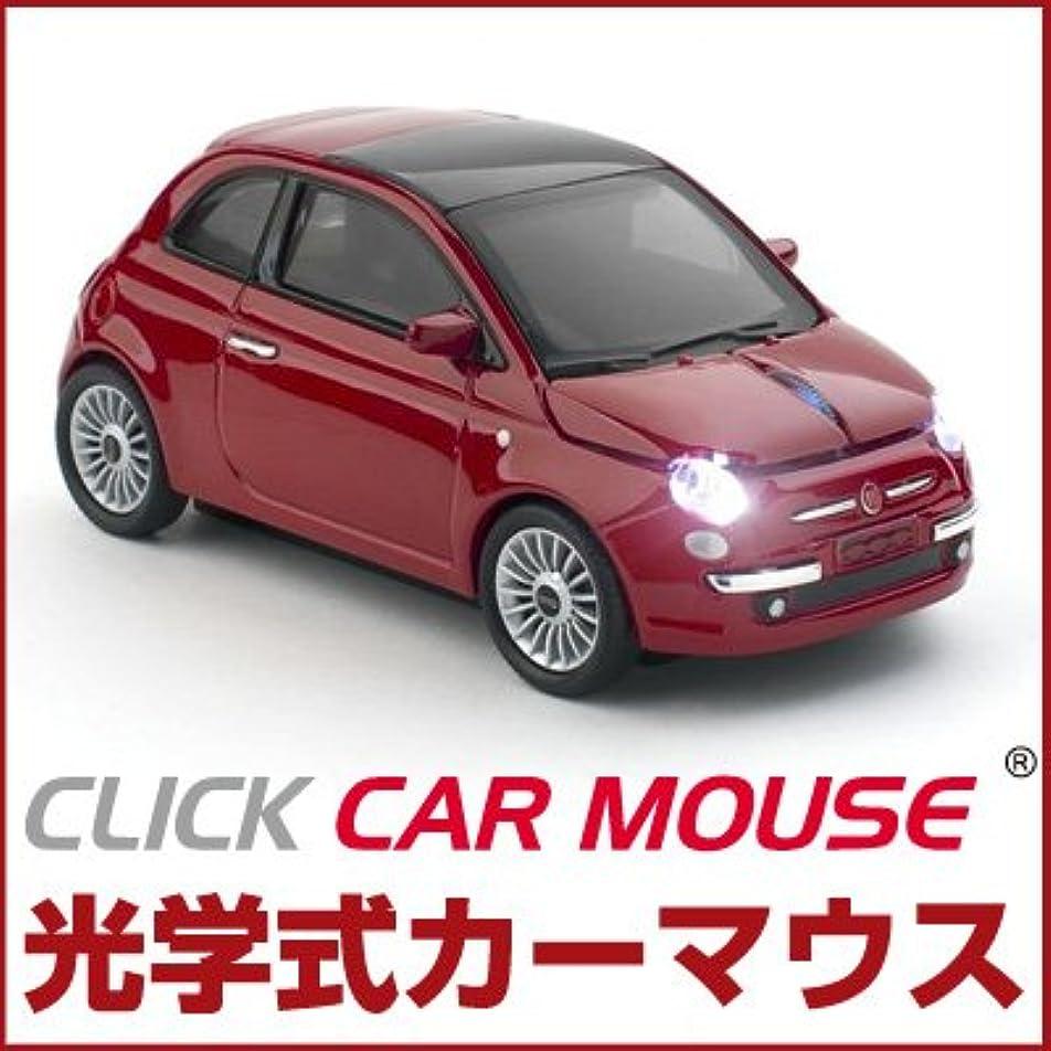 白雪姫の中で割り当てるCLICK CAR MOUSE クリックカーマウス Fiat 500 new (フィアット 500 ニュー) レッド 光学式ワイヤレスマウス
