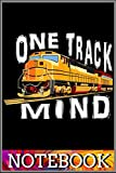 Notebook: One Track Mind Train Engine T Shirt 6x9 inch by Chan chi