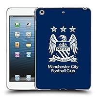 オフィシャルManchester City Man City FC フルホワイト・黒曜石&ブルー クレスト iPad mini 1 / mini 2 / mini 3 専用ソフトジェルケース