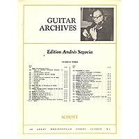 [冊子][楽譜]GUITAR ARCHIVES Andres Segovia No.157 Frescobaldi ARIA CON VARIAZIONI アンドレス・セゴビア