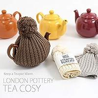 London Pottery ロンドンポタリー コットン ニットティーコージー 2Cup用 (ブラウン)