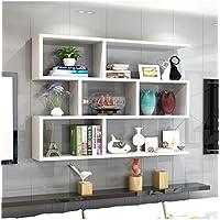 木製の棚の棚壁掛け棚のベッドルーム棚の収納棚の壁のキャビネットユニットの棚壁の装飾のデザイン近代的なスタイル(白) ( サイズ さいず : 100cm*15cm )