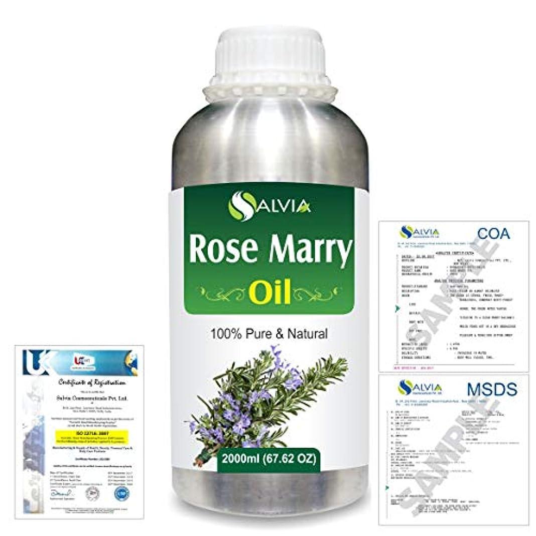 絶望的な戦略統計Rose Marry (Rosmarinus officinalis) 100% Natural Pure Essential Oil 2000ml/67 fl.oz.