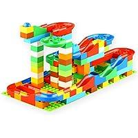 VERY100 ビーズコースター スロープトイ ビー玉転がし レゴブロック兼用 積み木 知育玩具 おもちゃ 子ども用 123pcs
