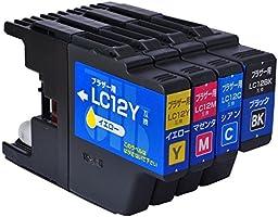 【Amazon.co.jp限定】ブラザー LC12-4PK 4色セット対応 ジットリサイクルインク JIT-NB124P(FFP・封筒パッケージ)
