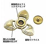 MULGORE 爆発的ヒットのハンドスピナー 指スピナー 人気商品 コンパクトタイプ 100%真鍮ですが 高品質 高耐久で最高5分間の連続回転が可能 (三角形の枝型ゴールド)