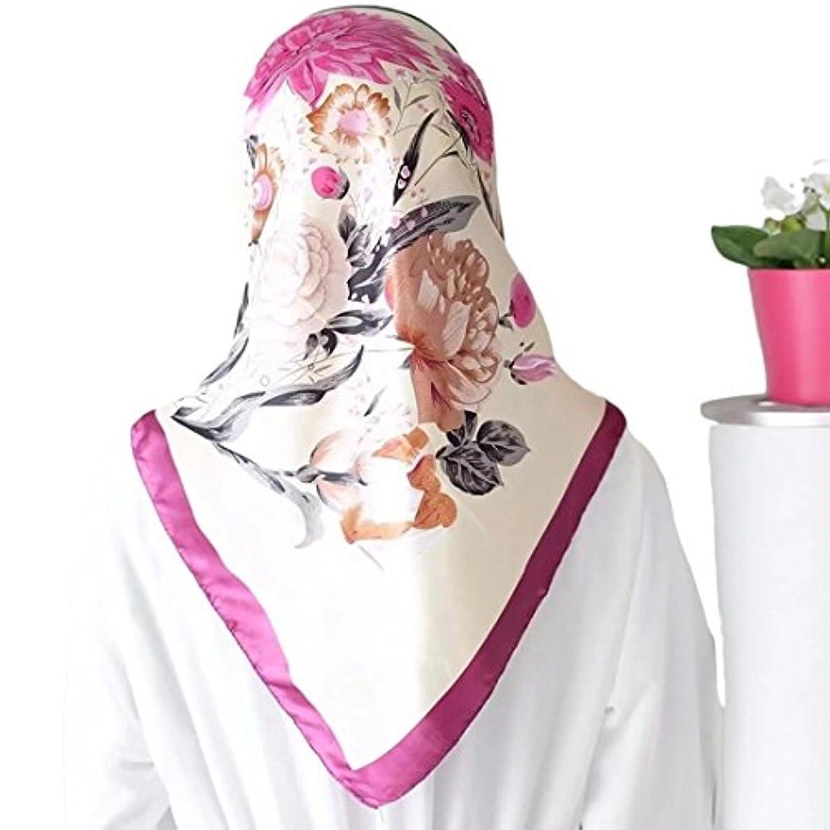 奇妙な回転する港女性用スカーフ女性用女性用大判スカーフプリントエレガントな女性用スカーフスカーフ90 * 90cm、35.4インチ