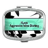I 愛ハートスポーツの - アグレッシブインラインスケート - 長方形ピルボックス