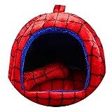 ペットの巣テディベア中小サイズの犬短い豪華なストライプドットパオ犬小屋,スパイダーマン,S