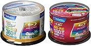 【セット買い】Verbatim バーベイタム 1回録畫用 ブルーレイディスク BD-R DL 50GB 50枚 ホワイトプリンタブル 片面2層 1-4倍速 VBR260YP50V1 & くり返し録畫用 ブルーレイ