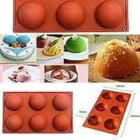 6個 シリコン型 半円 球型 焼き型 ケーキ マフィン 耐熱皿