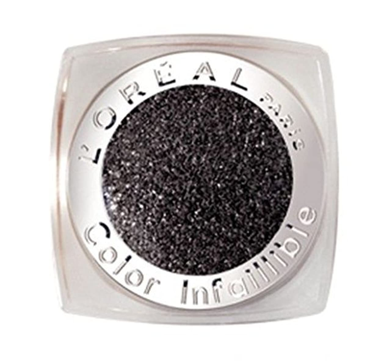 カプラー配管工口実L'OREAL COLOR INFAILLIBLE EYE SHADOW - 014 ETERNAL BLACK