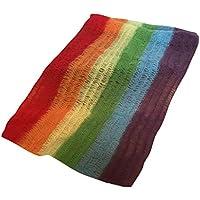 KOZEEY 虹柄 ブランケット ラップ おくるみ 赤ちゃん ベビーシャワー 毛布 柔らかい 写真道具 伸縮性