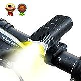 自転車ライト モバイルバッテリー SHENKEY ブラケットの USB充電式 IP65防水 4000mah 1200 ルーメン 光度センサー 振動センサー搭載 高輝度 耐久性 (12ヶ月安心保証)