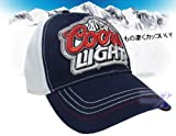 【クアーズライト公式製品】Coors Light帽子(ネイビーホワイト)