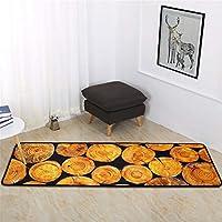 マット 格安 絨毯 黒80 150 ラグ 60x160cm キッチンマット、吸収性マット、浴室用耐油マット、ホームドアマット、ベッドルームベッドサイドストリップ、カーペット501F長方形材質